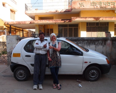me with our driver in Jaipur, India March 2011