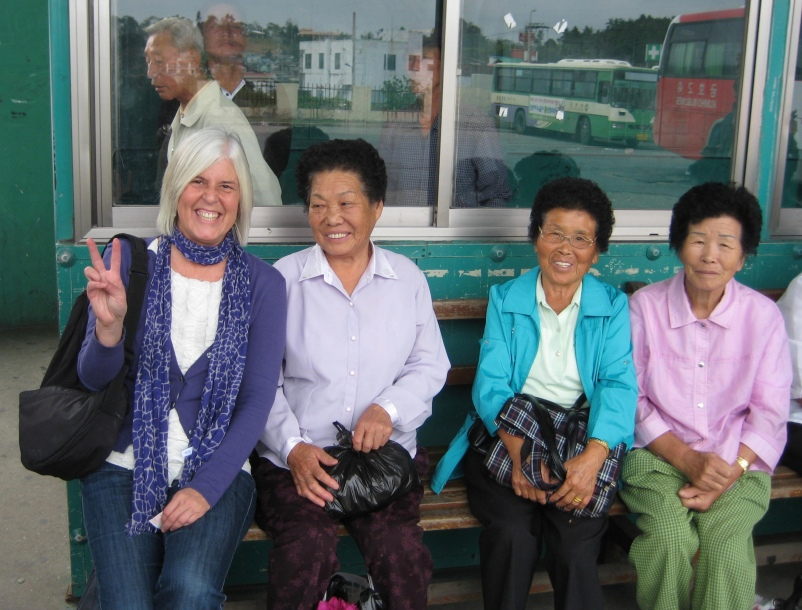 Waiting at the bus station in South Korea 2010
