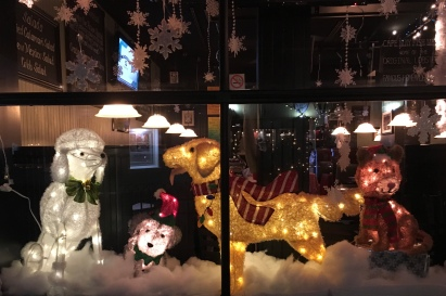 Christmas shop window