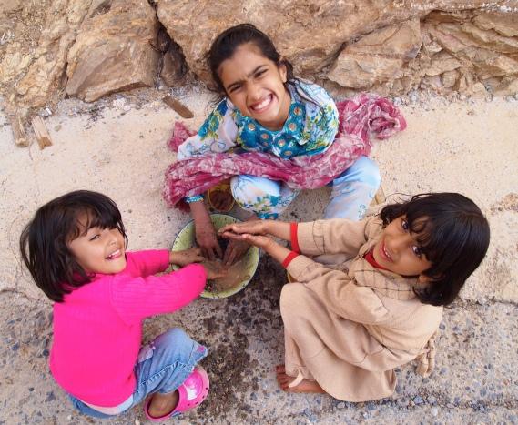 Children at Jebel Akhdar, Oman