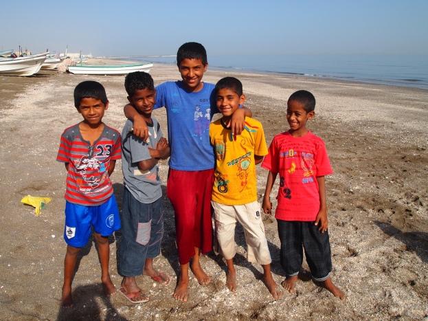 children in Al-Musanaah, Oman