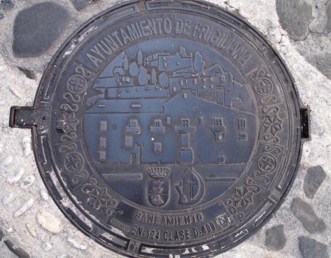 Manhole cover, Frigiliana, Spain