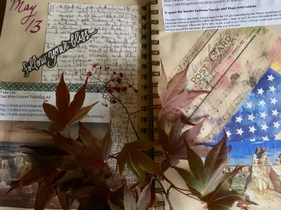 my Four Corners travel journal