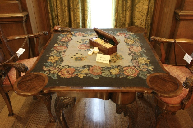 card table at Cheekwood