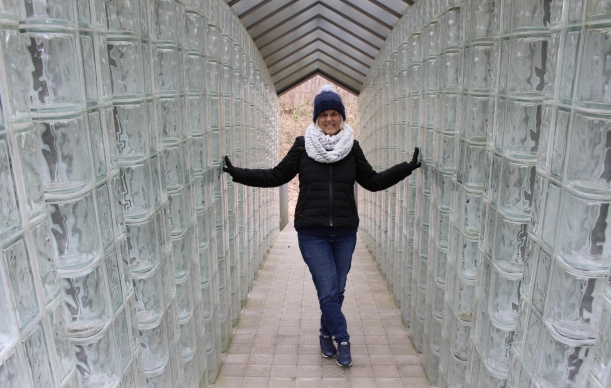 me in the Glass Bridge