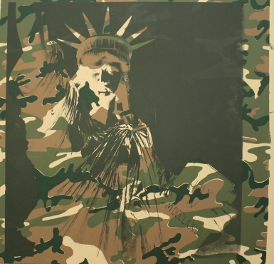 camouflage Statue of Liberty