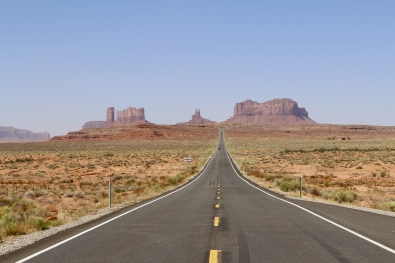 Approach to Monument Valley