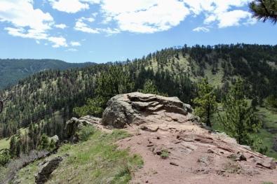 a rocky outcrop