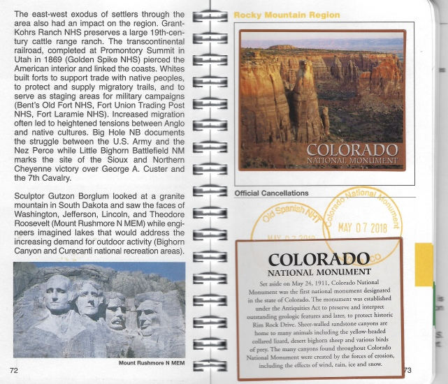 My sticker and stamp for Colorado National Monument