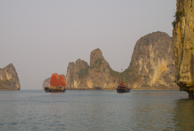 Junk on Halong Bay