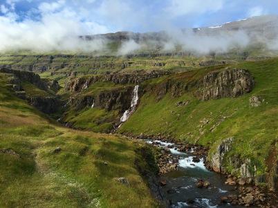 waterfalls near Seyðisfjörður