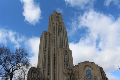 """Cathy,"" the Cathedral of Learning at University of Pittsburgh"