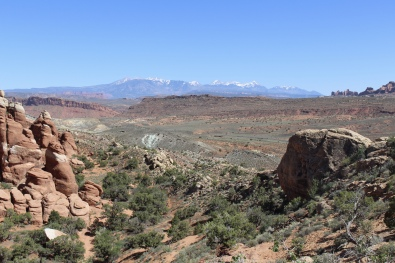 La Sal Mountains from the Fiery Furnace Viewpoint