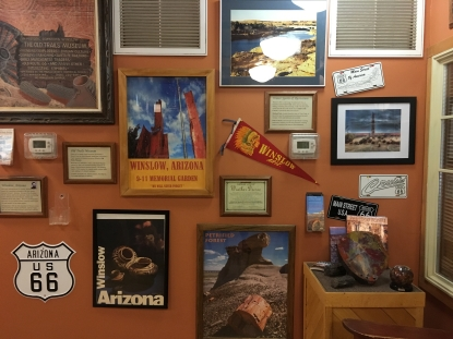 Inside the Winslow Visitor Center