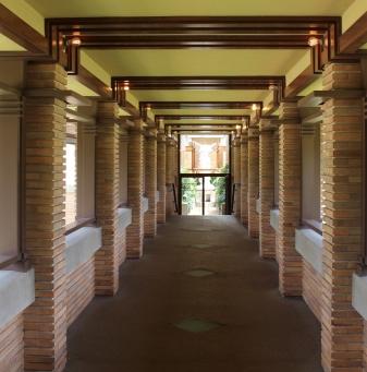 inside the pergola