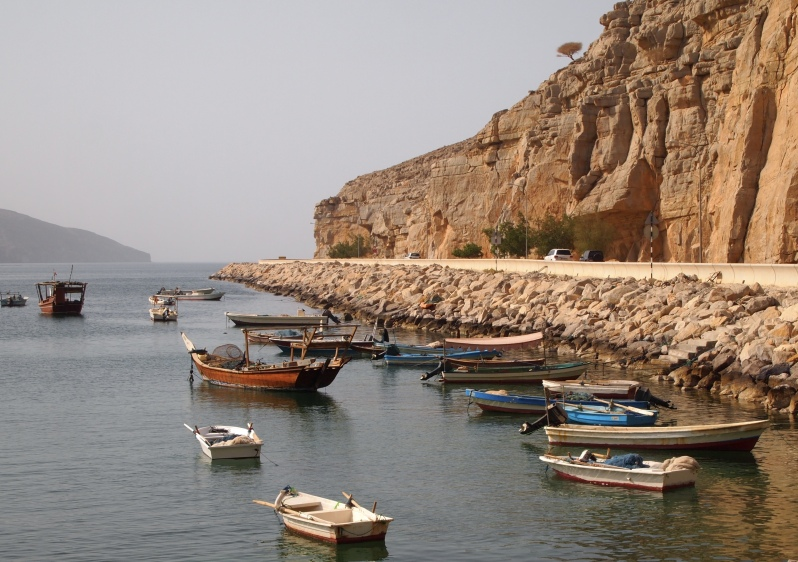 boats in Musandam