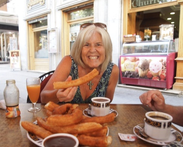 churros & chocolate in Granada
