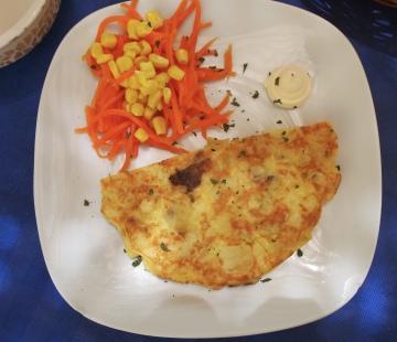 Spanish potato omelette in Granada