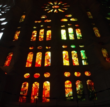 Stained glass at Sagrada de Familia