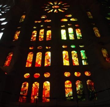Stained glass at Sagrada de Familia