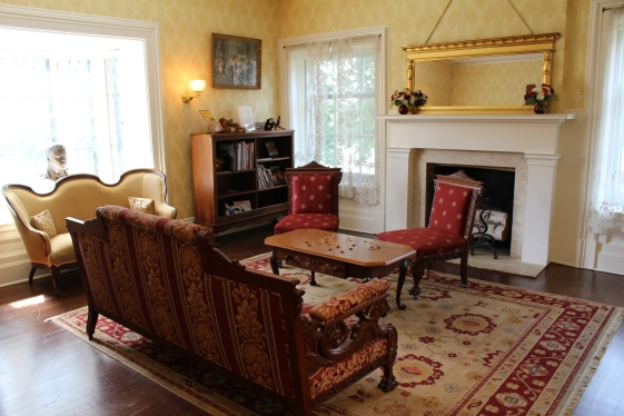 Living room at the Wilcox House