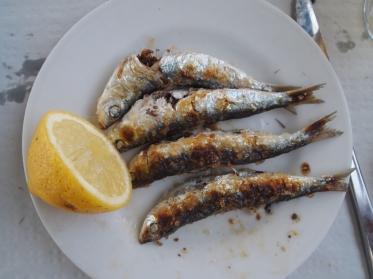 sardines in Malaga
