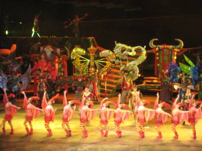 acrobatic show at the Chaoyang Theatre