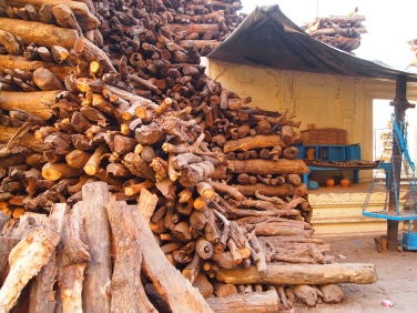 wood for the pyres