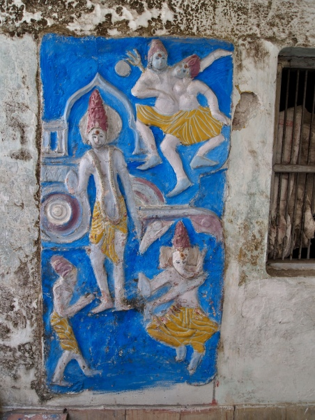 Relief sculpture in Rishikesh