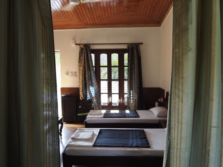 our room at the Narayana Palace Hotel