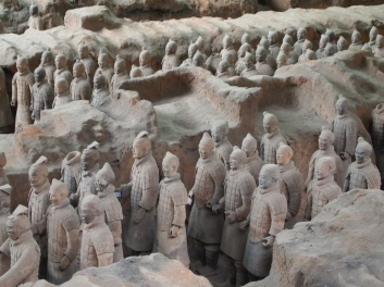 The Terra Cotta Warriors in Xian
