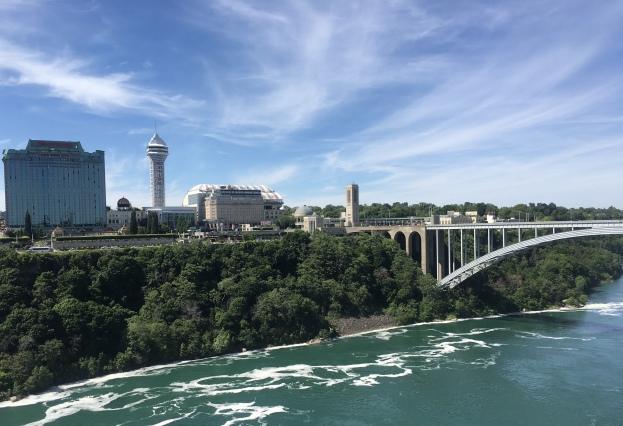 View of Canada & the Rainbow Bridge