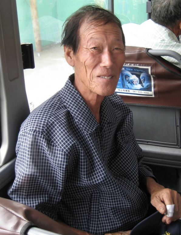 a local Korean man on the way to the Boseong market
