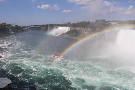 Double rainbow and Hornblower Cruises