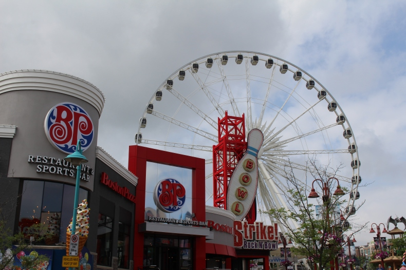 Ferris wheel and bowling on Centre Street