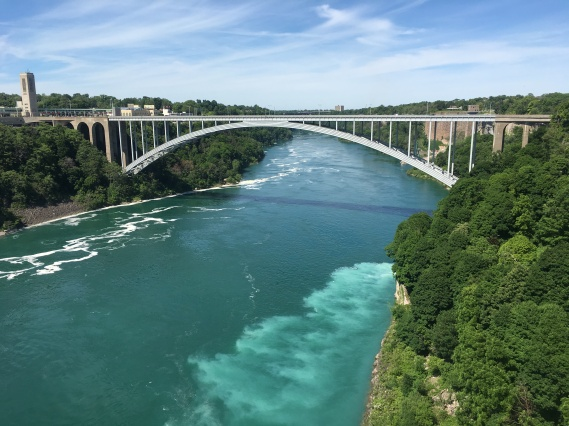 View downriver & the Rainbow Bridge from the Observation Tower