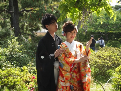 couple at Sankeien Garden