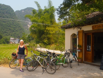riding bikes around Yangshuo