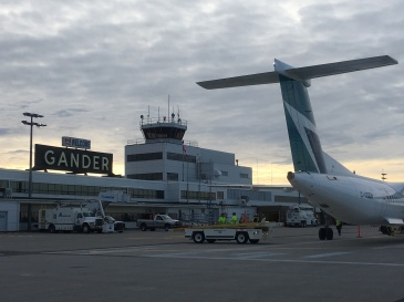 an unwanted stopover in Gander, Canada