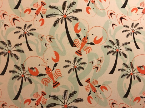 Wallpaper in Ale Wife's bathroom
