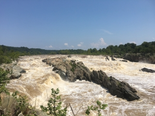 a walk with Susan at Riverbend and Great Falls