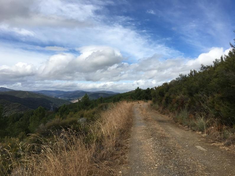 climbing to O'Cebreiro