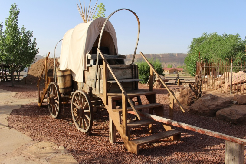 wagon at Bluff, UT
