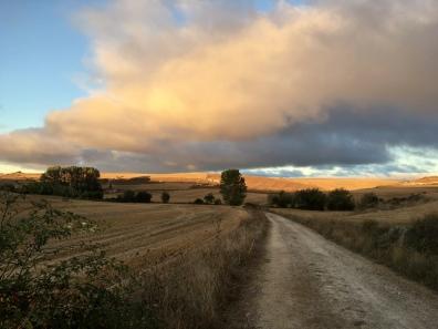 leaving Hornillos del Camino