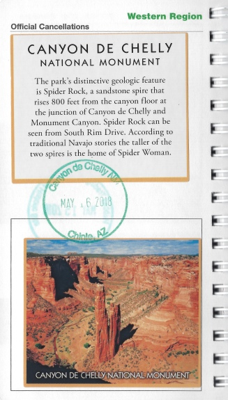 Canyon de Chelly cancellation stamp & sticker