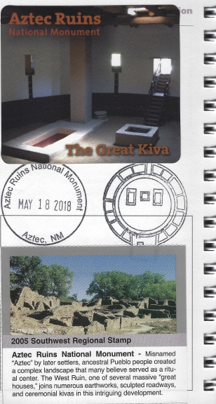Aztec Ruins cancellation stamp