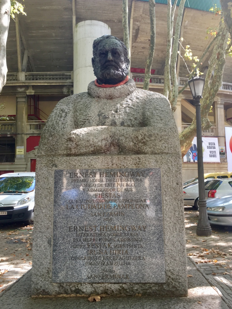 statue of Hemingway on Paseo Ernest Hemingway