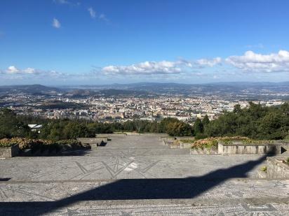 view of Braga from Nossa Senhora do Sameiro