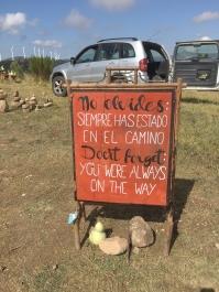 pilgrim roadside stop