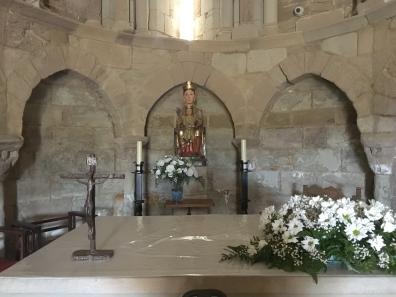 inside Santa María de Eunate